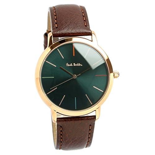 [Paul Smith]ポールスミス 腕時計 ウォッチ グリーン×ブラウン レトロ クラシック メンズ [並行輸入品]