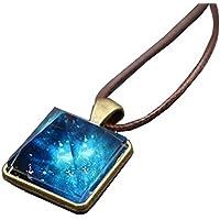 夜光 天然 水晶 ペンダント 光る ネックレス 光補給 パワーストーン アクセサリー 蓄光 リジナル ブランド 箱付 ブルー 青い 光 誕生日プレゼント