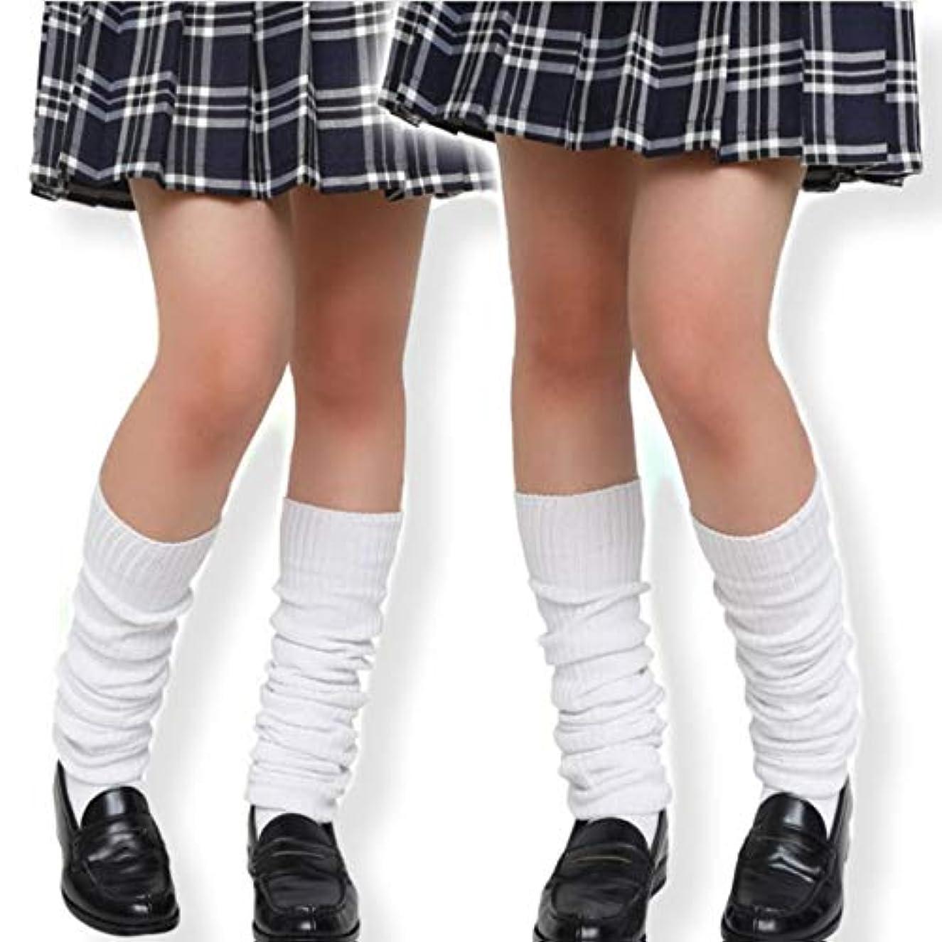 老人華氏池[Arunreas] ルーズソックス コスプレ コスチューム 女子高生 JK 制服 セーラー服 靴下 80cm 100cm 120cm 3サイズ 女子 ストッキング (100cm)
