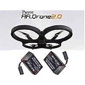 Parrot AR.Drone2.0 Quadricopter HDカメラ搭載ヘリコプター エイアールドローン2.0 /専用バッテリー 2個付 セット