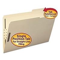 SMD19587 - Smead 19587 Manila Fastener File Folders with Reinforced Tab by Smead [並行輸入品]