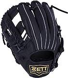 ZETT(ゼット) 野球 軟式 デュアルキャッチ グラブ (グローブ) 新軟式ボール対応 オールラウンド用 左投げ用 ブラック(1900) BRGB34930