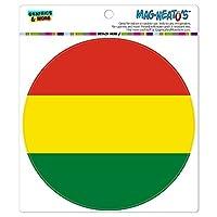 ボリビア国立国旗 - サークル MAG-格好いい'S(TM)カー/冷蔵庫マグネット