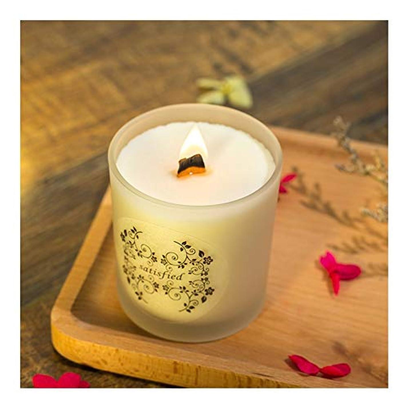 石膏ほめるリラックスZtian 大豆香料入りキャンドルロマンチックな香料入りキャンドル輸入エッセンシャルオイルキャンドルアロマセラピーガラス無煙 (色 : Lavender)