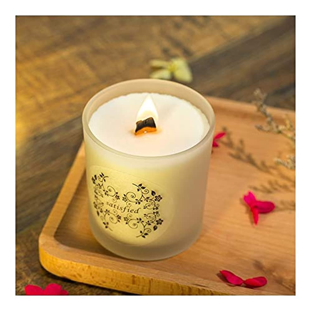 ブロックする閃光とても多くのZtian 大豆香料入りキャンドルロマンチックな香料入りキャンドル輸入エッセンシャルオイルキャンドルアロマセラピーガラス無煙 (色 : Lavender)