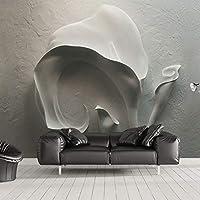 Ljjlm 写真の壁紙の壁画3Dの浮彫りにされた灰色の石の花の壁画家の装飾の壁のペーパー自己接着壁紙-160X120CM