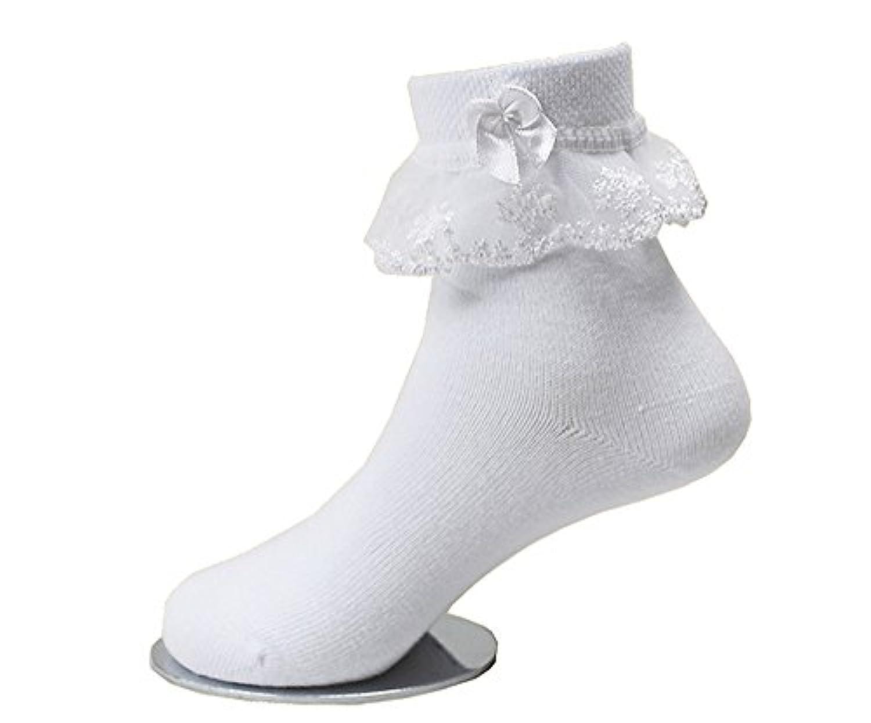 子供レース ソックス リボン 靴下 こども 靴下通販 女の子 キッズ 靴下 フォーマルソックス  (3-5歳 13-15cm)
