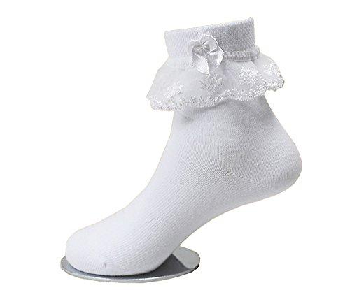 子供レース ソックス リボン 靴下 こども 靴下通販 女の子 キッズ 靴下 フォーマルソックス (2...