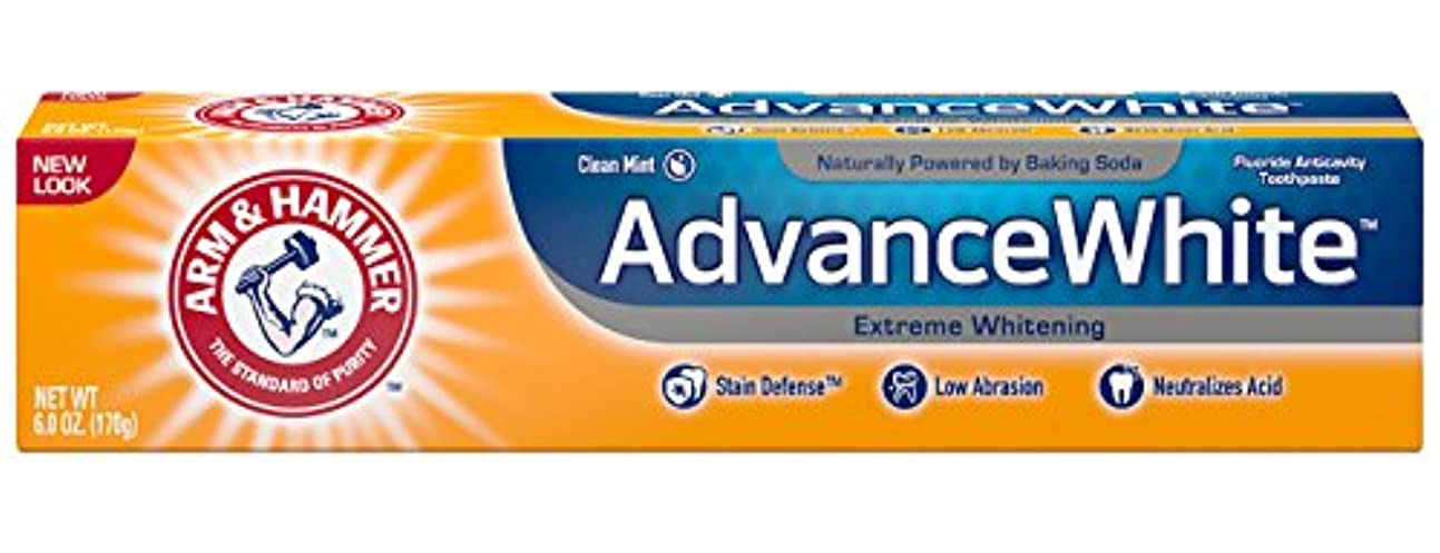公使館消化雑多なArm & Hammer Advance White, Baking Soda & Peroxide, Size: 6 OZ by CHURCH & DWIGHT [並行輸入品]