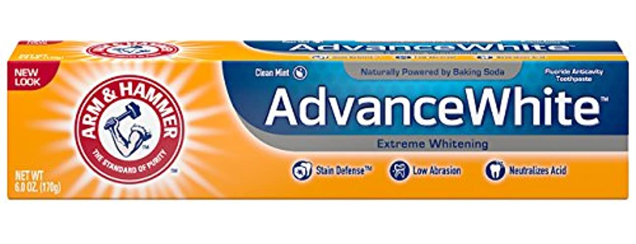 痴漢アルカイック巨大なArm & Hammer Advance White, Baking Soda & Peroxide, Size: 6 OZ by CHURCH & DWIGHT [並行輸入品]