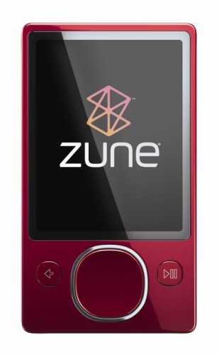 Zune 120 GB Video MP3 Player (Red) (Discontinued by Manufacturer) by Zune