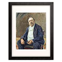 マックス・リーバーマン 「Portrait of Albert von Berger. 1905.」 額装アート作品