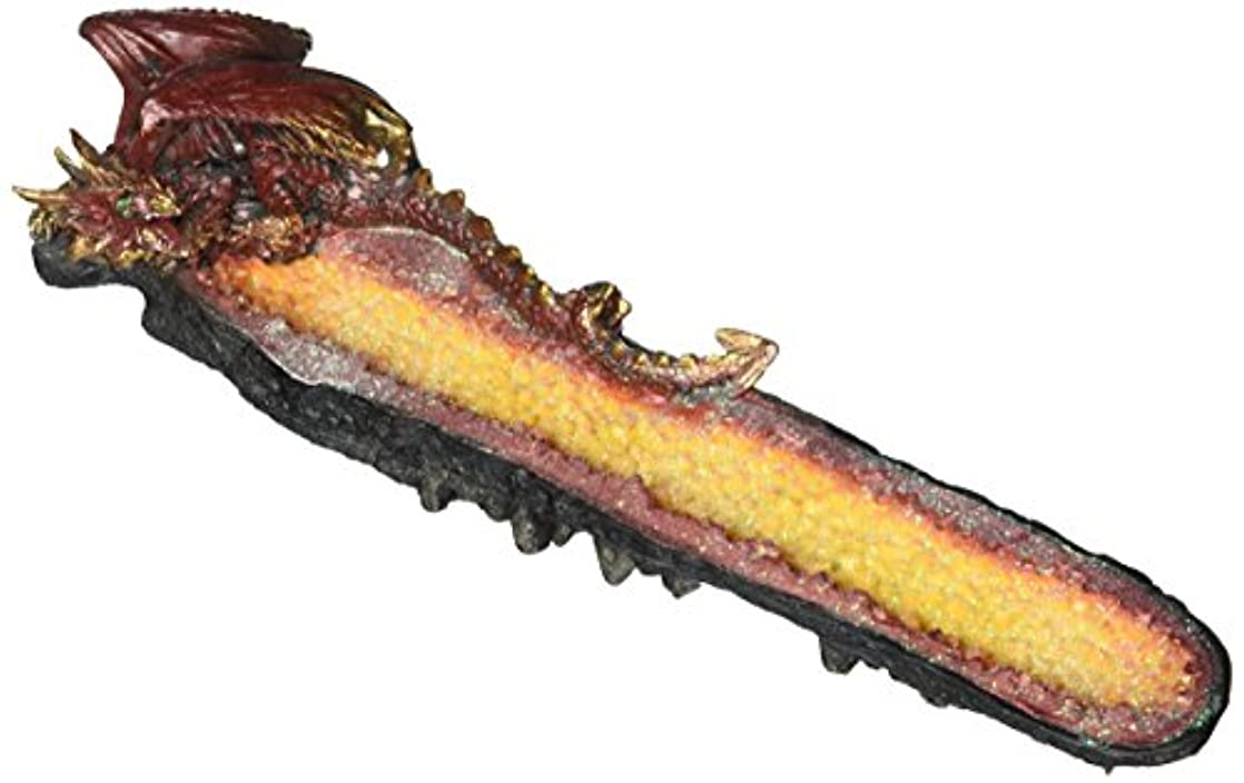 Orange Dragon Cystal Incense Burner (EA)