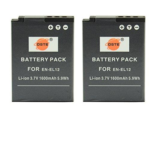 DSTE® アクセサリ Nikon EN-EL12 互換 カメラ バッテリー 2個 対応機種 Coo...
