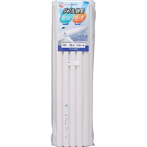 アイリスオーヤマ 風呂ふた 防カビ・はっ水 シャッター式 約75×110.5cm ホワイト SHFG-7511