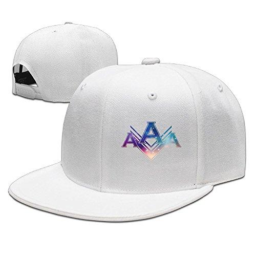 WAWAHAT 野球帽 キャップ 帽子 AAA エー Attack Around 平らつば スポーツ アウトドア 男女兼用 One Size ホワイト