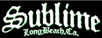 "SUBLIME Long Beach Logo STICKER, Officially Licensed Products Cross-Platform CLASSIC ROCK Artwork, 2"" x 6"" - Long Lasting for Any Surface Sticker DECAL"