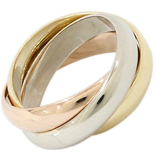 (カルティエ)Cartier リング トリニティリング 3連スリーカラー 中古 ブランドジュエリー 指輪 ホワイトゴールド イエローゴールド ピンクゴールド Cartier [並行輸入品]