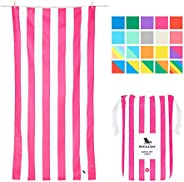 Quick Dry Towel for Beach - Phi Phi Pink, Extra Large (200x90cm, 78x35) - Sand Proof Beach mat, Fast Drying To