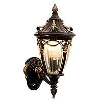 Xwyun 壁面ライト 工業用北欧防風 ウォールライト ヨーロッパ 現代的なミニマリスト 屋外 中庭 別荘の壁ランプ 家 LED 居間 バルコニー 通路 階段照明壁ランプ(41 * 23 cm) (A)
