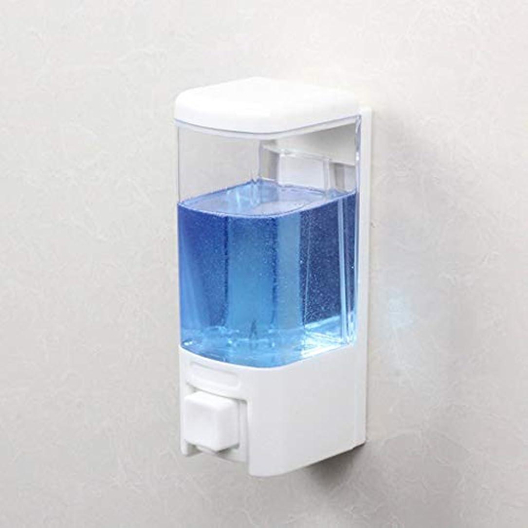 せっけん 浴室ソープディスペンサーホテル壁掛け風呂シングルヘッドソープマシンシャワージェルボックス漏れ防止手消毒剤ボトル 新しい