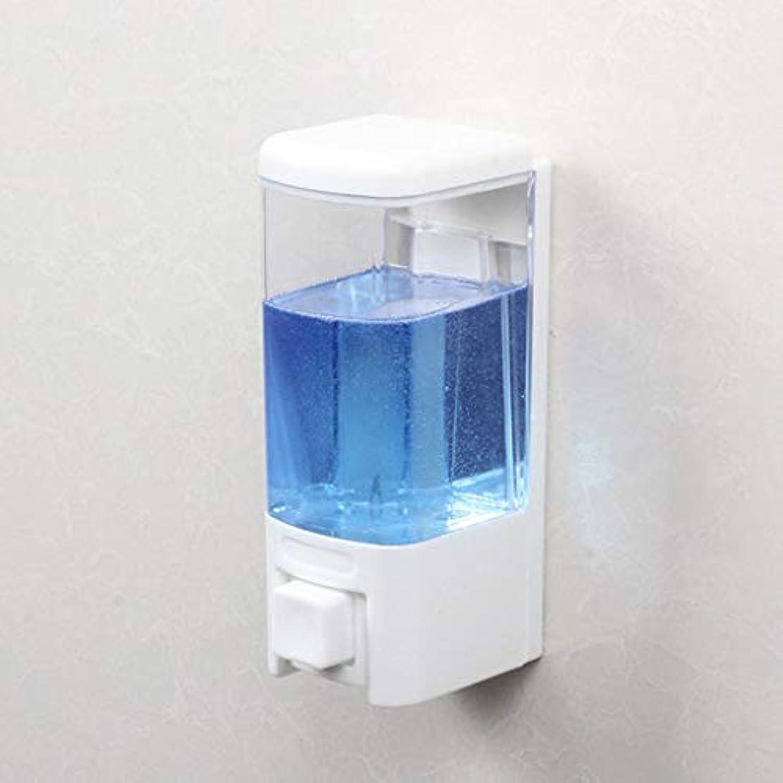 許さない形容詞花輪せっけん 浴室ソープディスペンサーホテル壁掛け風呂シングルヘッドソープマシンシャワージェルボックス漏れ防止手消毒剤ボトル 新しい