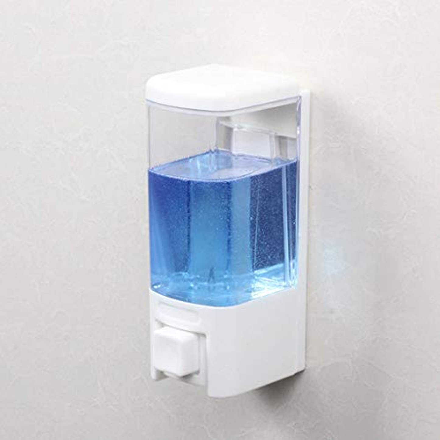 使用法リブアーカイブせっけん 浴室ソープディスペンサーホテル壁掛け風呂シングルヘッドソープマシンシャワージェルボックス漏れ防止手消毒剤ボトル 新しい