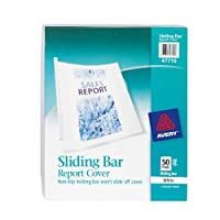 Avery Sliding Bar Clear Report Covers Pack of 50 (47710) 【Creative Arts】 [並行輸入品]
