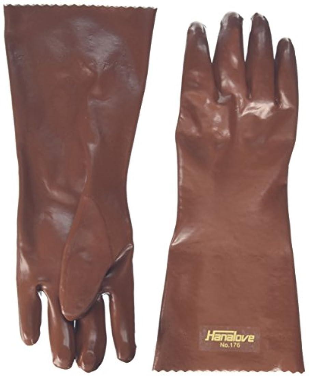 トリム評価可能ずんぐりしたハナキゴム 耐油手袋ハナローブNo.176 1双