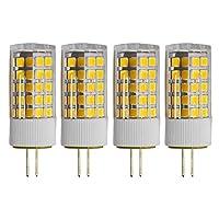 G4口金 LED G4 LED 110V-130V 3.5W 電球色 3000K 調光 300lm 30W 白熱電球相当 4個入り, に適応したベッドルーム・ホームデコレーションなど