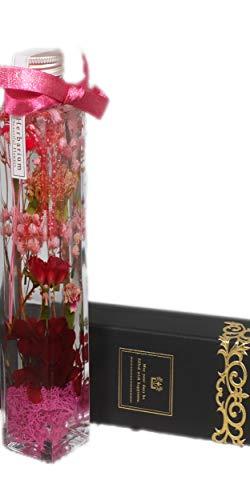 ハーバリウム【個数限定 高価な深紅バラとカーネーション】 ハ...