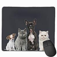 マウスパッド 可愛いイヌ ネコ 覗き パソコン用 シンプル 上品 快適 防水 耐久性 速乾性 レーザー&光学式マウス対応でき ズレにくい オシャレ