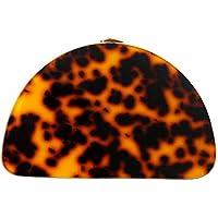 New Women Cute Bag Acrylic Leopard Dinner Handbag Woman Semicircle Evening Bag Trendy Party Clutch Purse