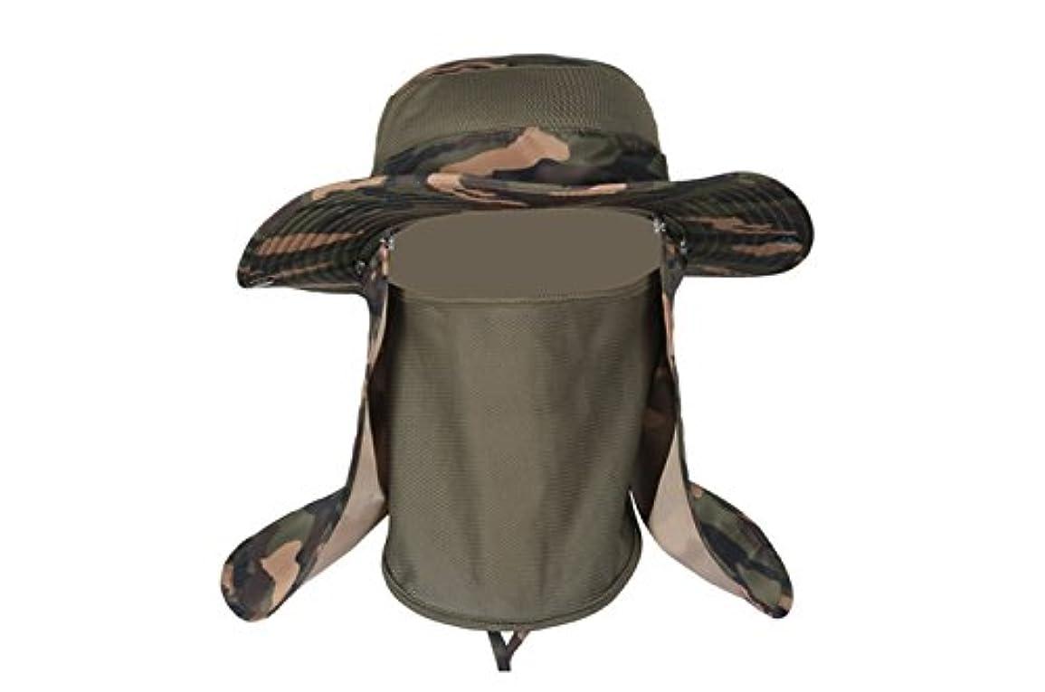 主流博覧会咳RICHELEハット 帽子 ぼうし メッシュ 使用 紫外線 から 360度 ガード / UV カット 日焼け 防止 顔 首 日よけ カバー / 登山 釣り プール 海水浴 アウアドア