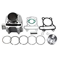 GOOFIT 57.4mm Cylinder Piston Kit for 4 Stroke GY6 150cc ATV Scooter [並行輸入品]