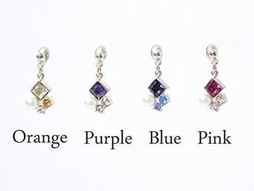 [해외]니켈 무료 전화 형 스키와 작은 진주 루프 맞는 논호루삐아스 귀걸이 귀걸이/Nickel Free Diamond Swarovski and Small Pearl Loop Fit Non Hole Piercing Earrings Earrings