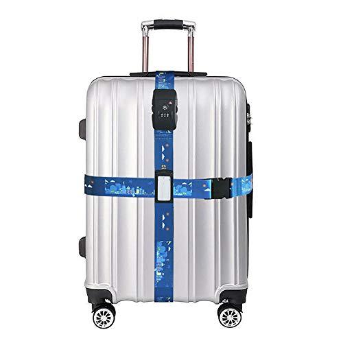 dec2306469 GIEADUN スーツケースベルト TSAロック 3桁ダイヤル式 トランクベルト 十字型 ワンタッチ サイズ