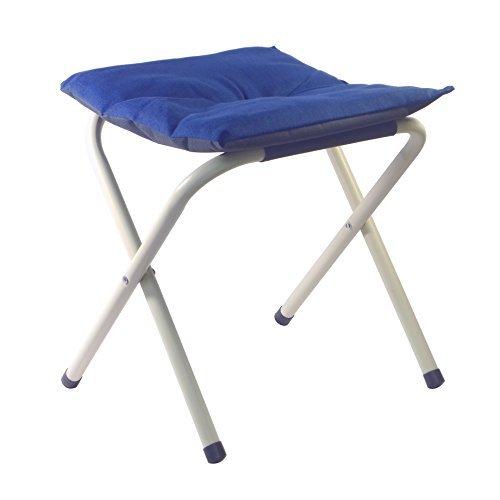 折りたたみ椅子 丈夫 軽量 コンパクト アウトドア クッションチェア 小型 頑丈 持ち運び カラフル ネイビー...