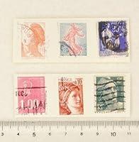 【スクラップ ネイルシール】フランス切手(2)6枚組
