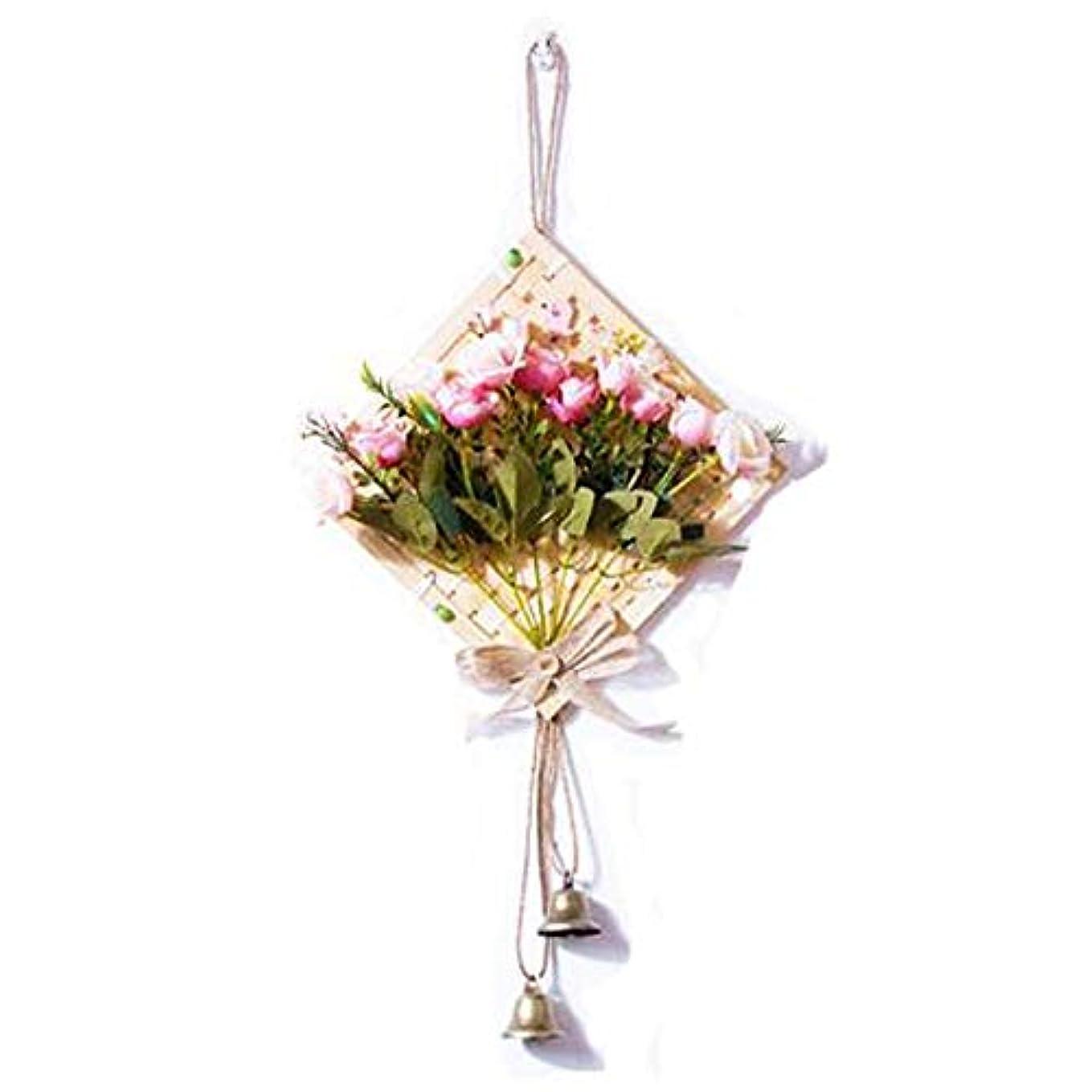 ブラシかご枯渇Hongyushanghang 風チャイム、クリエイティブ?竹風チャイム、白、幅28.5cmくらい,、ジュエリークリエイティブホリデーギフトを掛ける (Color : Pink)