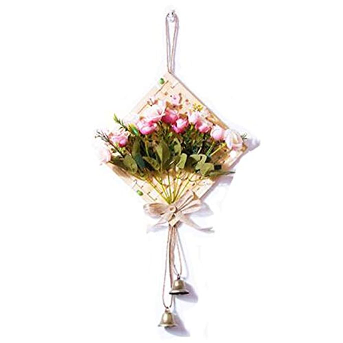制限する優先復活させるHongyushanghang 風チャイム、クリエイティブ?竹風チャイム、白、幅28.5cmくらい,、ジュエリークリエイティブホリデーギフトを掛ける (Color : Pink)