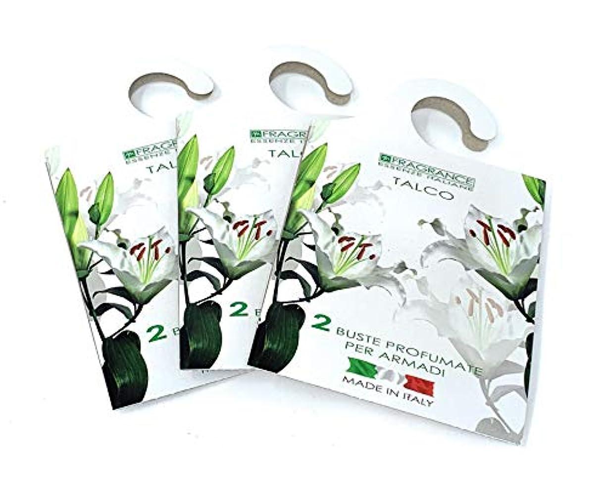 樹皮すみませんステップMERCURY ITALY 吊り下げるサシェ(香り袋) FIOREALE イタリア製 タルクの香り/TALCO 2枚入り×3パック [並行輸入品]