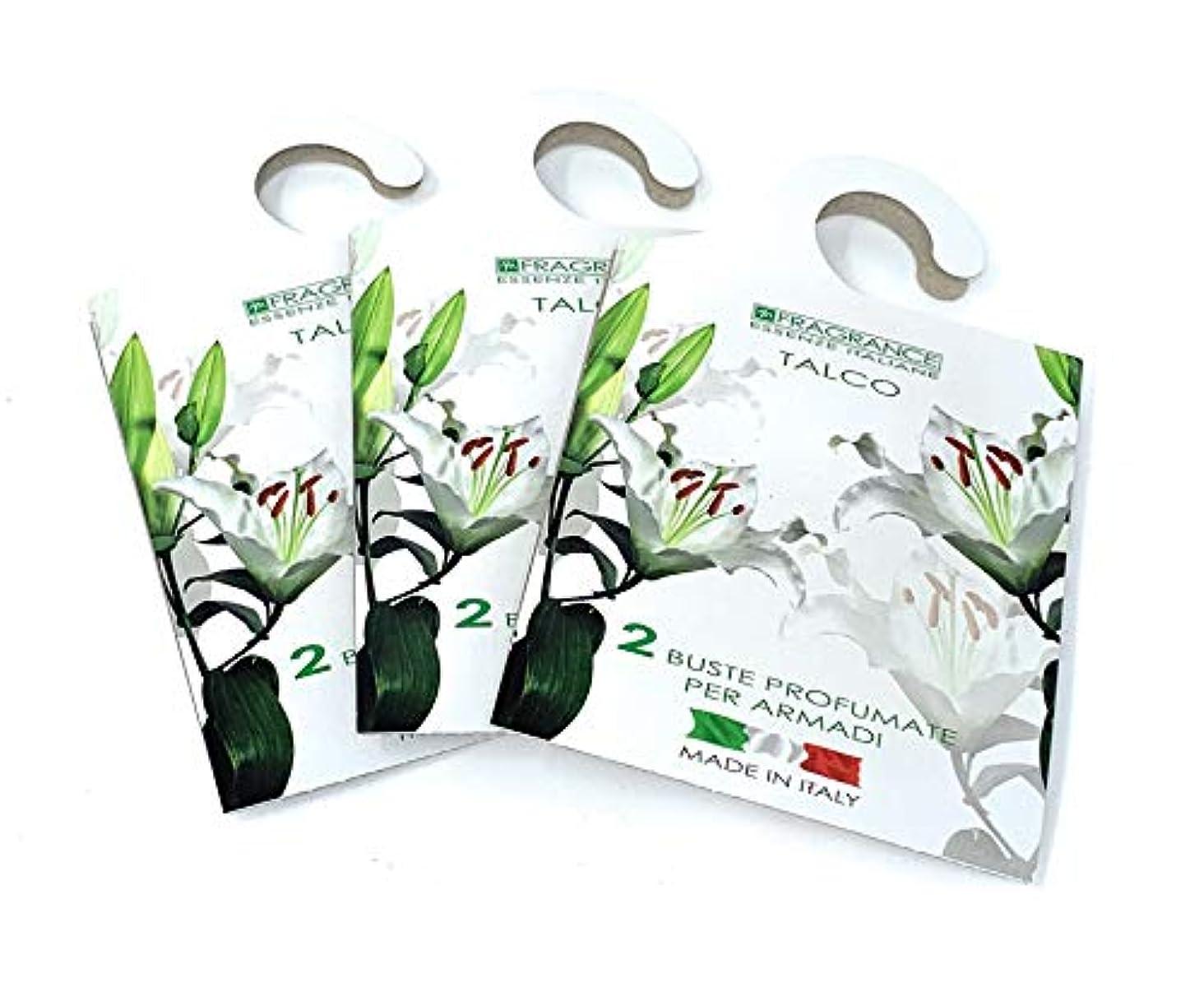 非行統計的ハミングバードMERCURY ITALY 吊り下げるサシェ(香り袋) FIOREALE イタリア製 タルクの香り/TALCO 2枚入り×3パック [並行輸入品]
