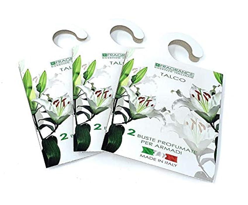 モバイル真実レディMERCURY ITALY 吊り下げるサシェ(香り袋) FIOREALE イタリア製 タルクの香り/TALCO 2枚入り×3パック [並行輸入品]