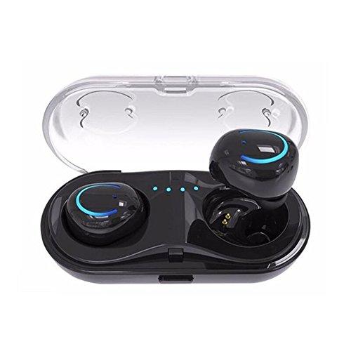 Bluetoothイヤホン ハイレゾ対応 両耳 マイク内蔵 完全ワイヤレスイヤホン カナル型 充電ケース付き 高音質テレオ 完璧な代替品 iPhone6/iPhone7/8/X Androidなど対応する