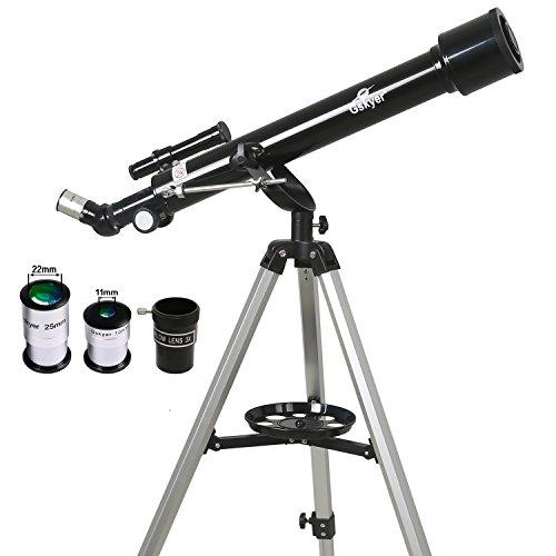 Gskyer 天体望遠鏡 屈折式 口径60mm 焦点距離700mm  初心者と子供向け