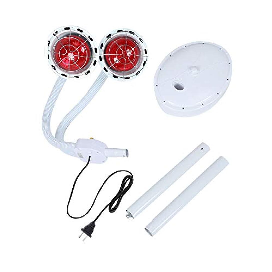 バット手のひらスロープ赤外線電灯 ダブルヘッド 270W ライト調節可能 療法ヒートランプセット 睡眠改善 関節痛みを軽減 ボディケア 家庭 健康 介護用 理学療法肌美容兼用