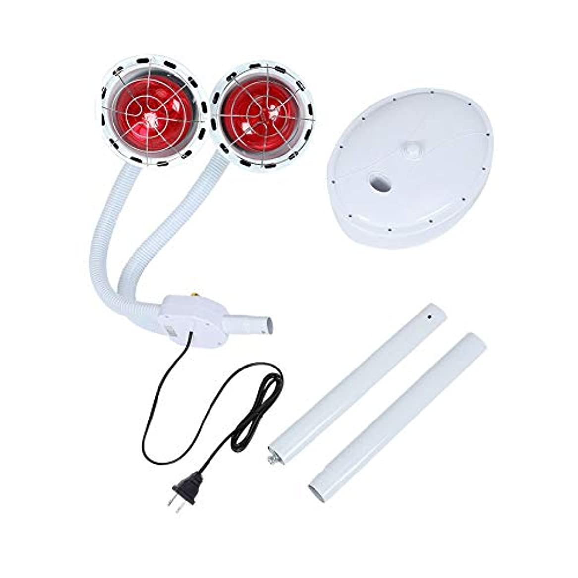 日焼け投げ捨てる有効な赤外線電灯 ダブルヘッド 270W ライト調節可能 療法ヒートランプセット 睡眠改善 関節痛みを軽減 ボディケア 家庭 健康 介護用 理学療法肌美容兼用