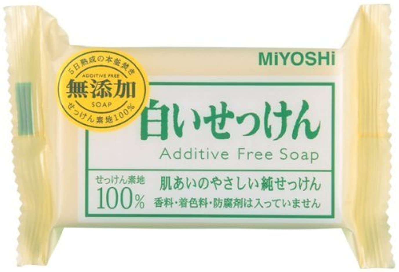 路地こどもの宮殿槍【まとめ買い】無添加白い石鹸1P ピロー 108G ×10個