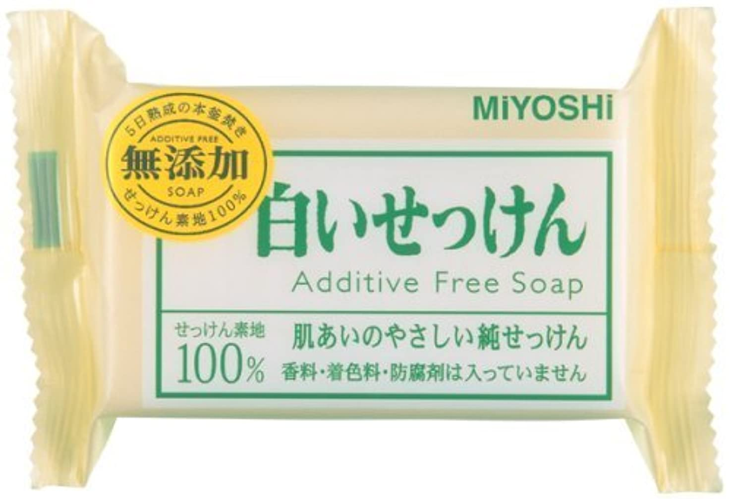 不運皮肉な大臣【まとめ買い】無添加白い石鹸1P ピロー 108G ×10個
